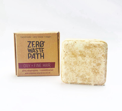 Zero Waste Path 2in1 Shampoo + Conditioner - Oily + Fine Hair 70g