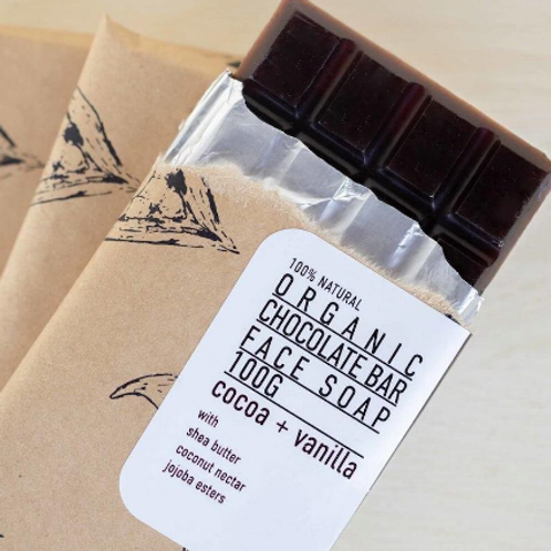 Sknfed Organic Chocolate Bar Face Soap 100g