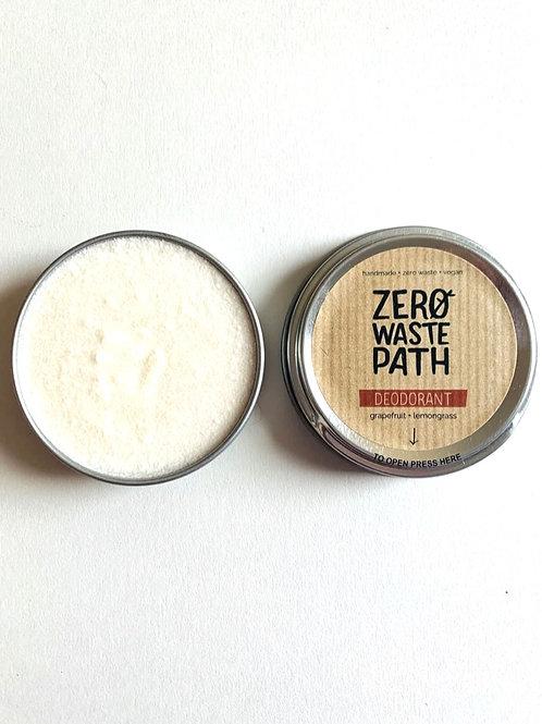 Zero Waste Path Grapefruit + Lemongrass Deodorant 60g