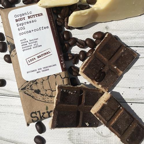 Sknfed Organic Espresso Body Butter Bar - Cocoa+Coffee 50g