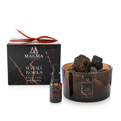 Magma London Cool Woods Volcanic Rock Diffuser natural vegan zero waste products UK