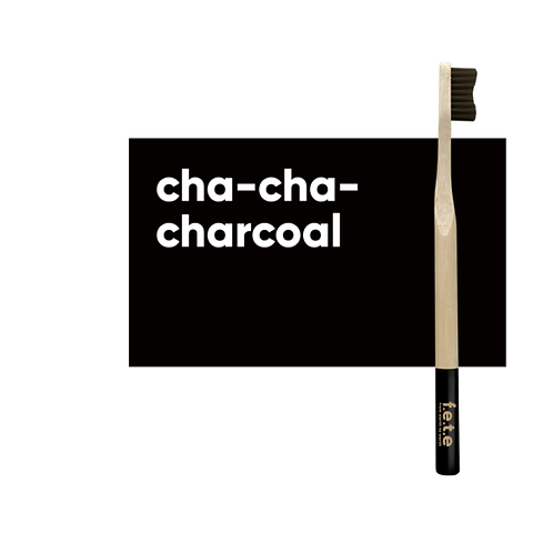 Adult's  Medium Bristle Bamboo Toothbrush – Charcoal