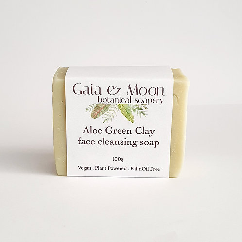 Gaia & Moon Aloe Face Cleansing Bar - Vegan - Unscented 100g