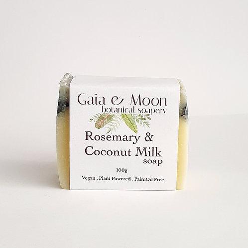 Gaia & Moon Rosemary & Coconut Milk Soap 100g