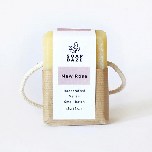 New Rose Soap on a Rope