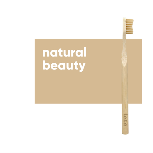 Adult's  Medium Bristle Bamboo Toothbrush – Natural Beauty