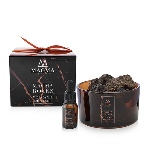 Magma London Smokey Velvet Volcanic Rock Diffuser natural vegan zero waste products UK
