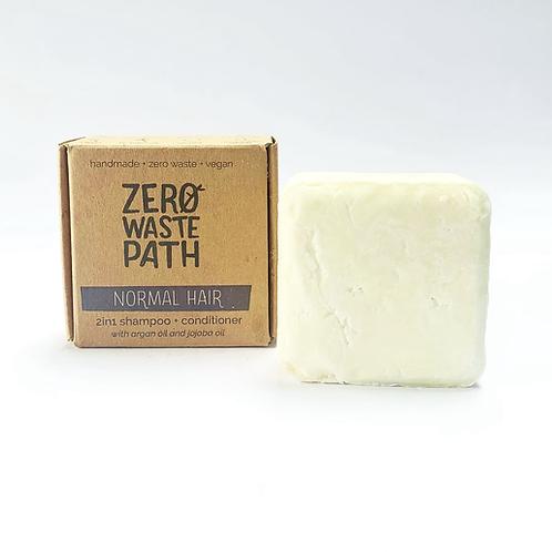 Zero Waste Path 2in1 Shampoo + Conditioner - Normal Hair  70g