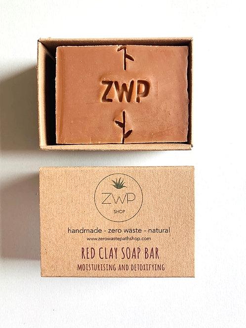Zero Waste Path Handmade Soap Red Clay Vegan Cruelty free UK Jersey