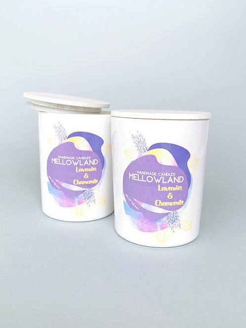 Mellowland Handmade Soy Natural Candle Lavender & Chamomile 60ml