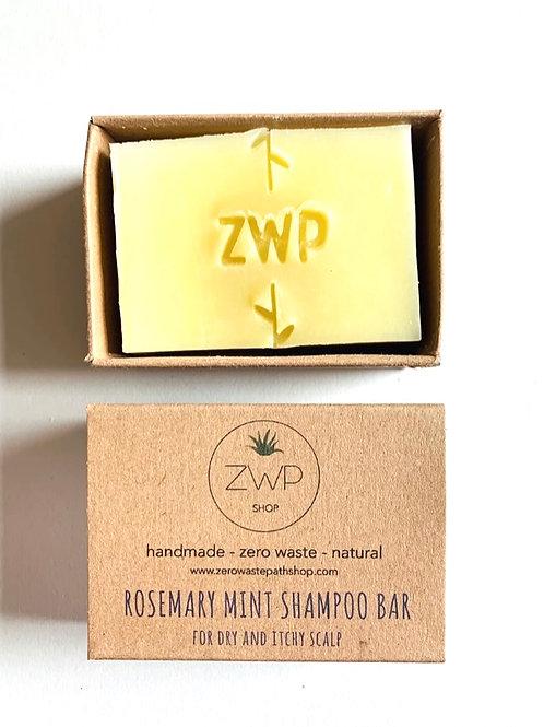 Zero Waste Path Rosemary Mint Shampoo Bar natural vegan handmade haircare Breeze store online Jersey UK