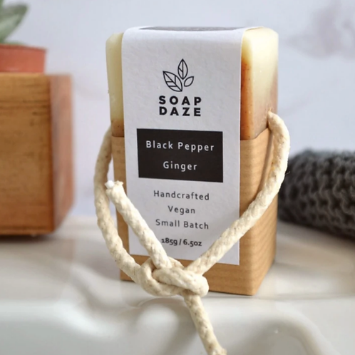 Black Pepper and Ginger Soap on a Rope