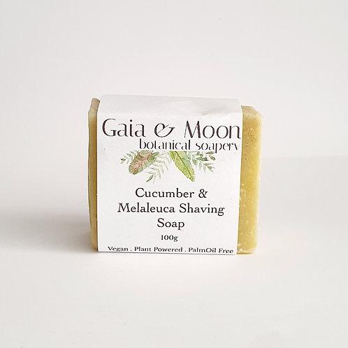 Gaia & Moon Cucumber & Melaleuca Shaving Soap - Vegan 100g