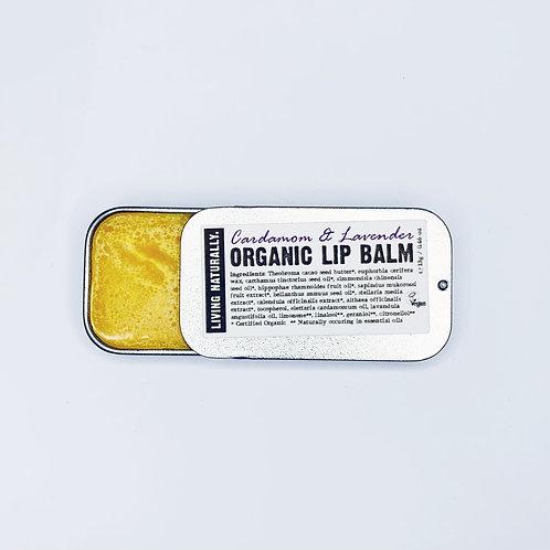 Living Naturally Organic Lip Balm -Cardamom & Lavender