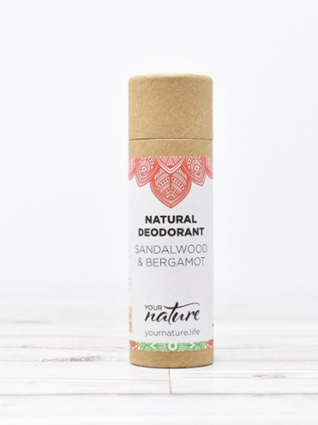 Sandalwood & Bergamot Your Nature 70g natural deodorant stick