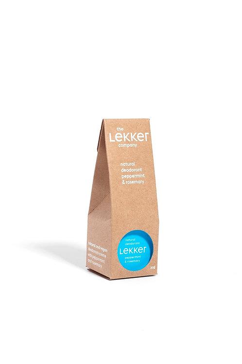 Lekker Peppermint Deodorant Vegan Natural Skincare Breeze Online Store UK