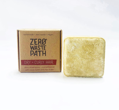 Zero Waste Path 2in1 Shampoo + Conditioner - Dry + Curly Hair 70g