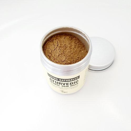 Living Naturally Ayurvedic Herbal Powder Hair Mask/Shampoo  50g
