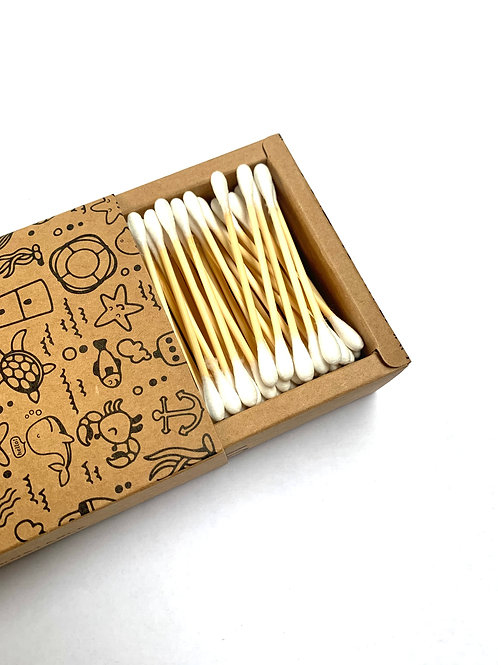 Bamboo Cotton Buds - 200 Pieces
