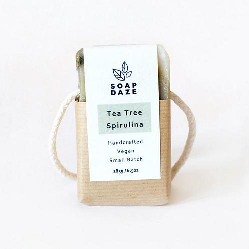 Tea Tree and Spirulina Soap on a Rope,