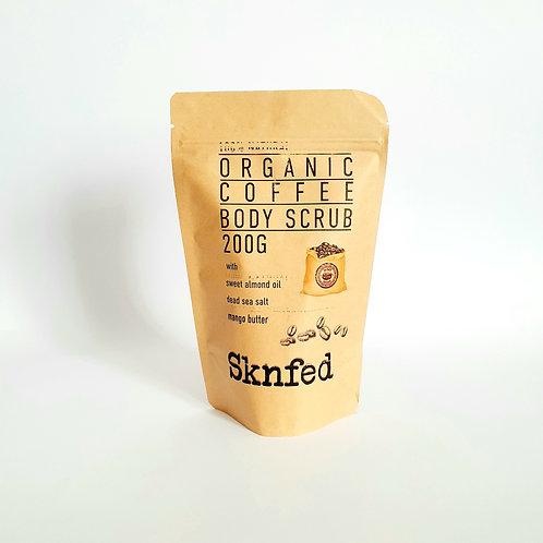 Sknfed Organic Coffee Face & Body Scrub 200g