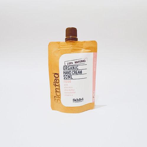 Sknfed Organic Hand Cream - Rose   50ml