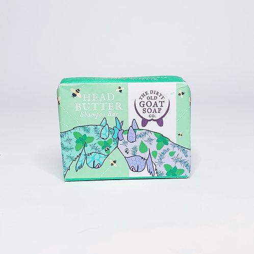 Goat Shampoo Bar  – Head Butter Peppermint & Honey Shampoo Bar 85g