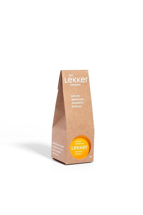 Lekker Mandarin & Lemon Deodorant Vegan Natural Skincare Breeze Online Store UK
