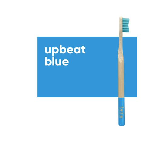 Adult's Medium Bristle Bamboo Toothbrush –  Blue