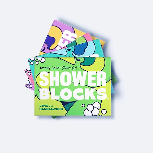 Shower Blocks Lime & Sandalwood Solid Shower Gel