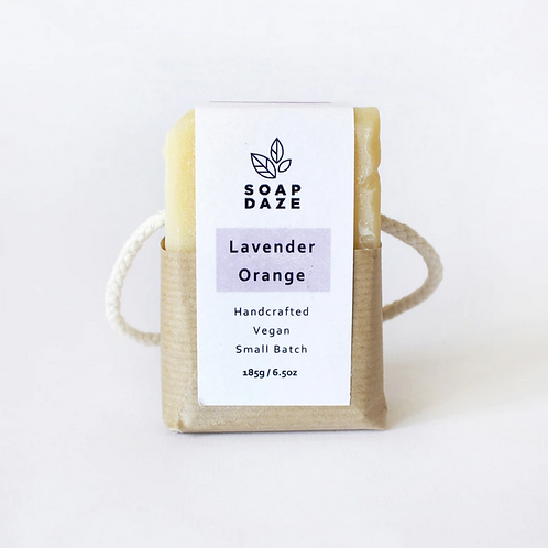Lavender and Orange Soap on a Rope