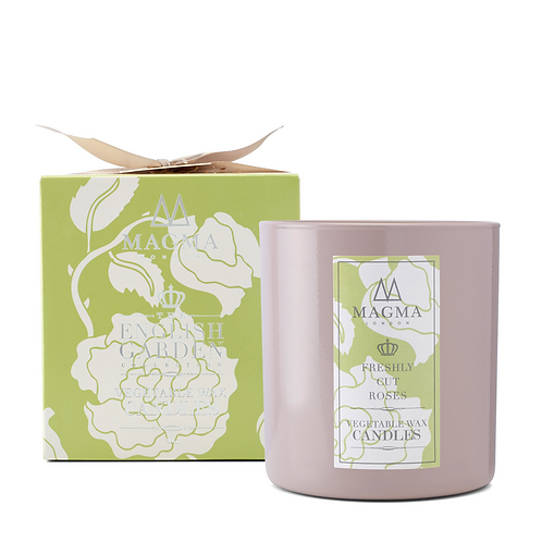 Magma London Freshly Cut Rose Vegetable Wax Candle 38cl