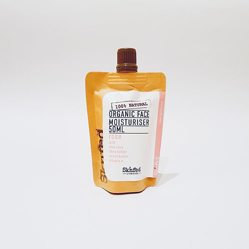 Sknfed Organic Face Moisturiser - Rose 50ml