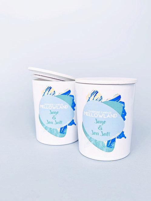 Mellowland Handmade Soy Natural Candle Sage & Sea Salt60ml