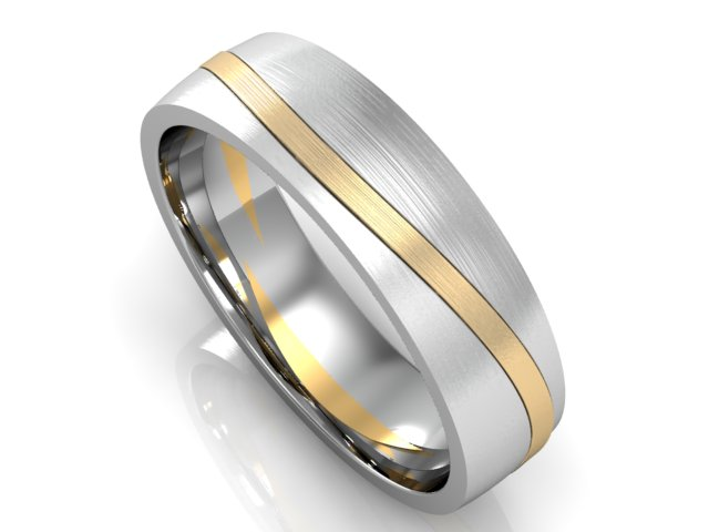Palladium & 18ct wedding band