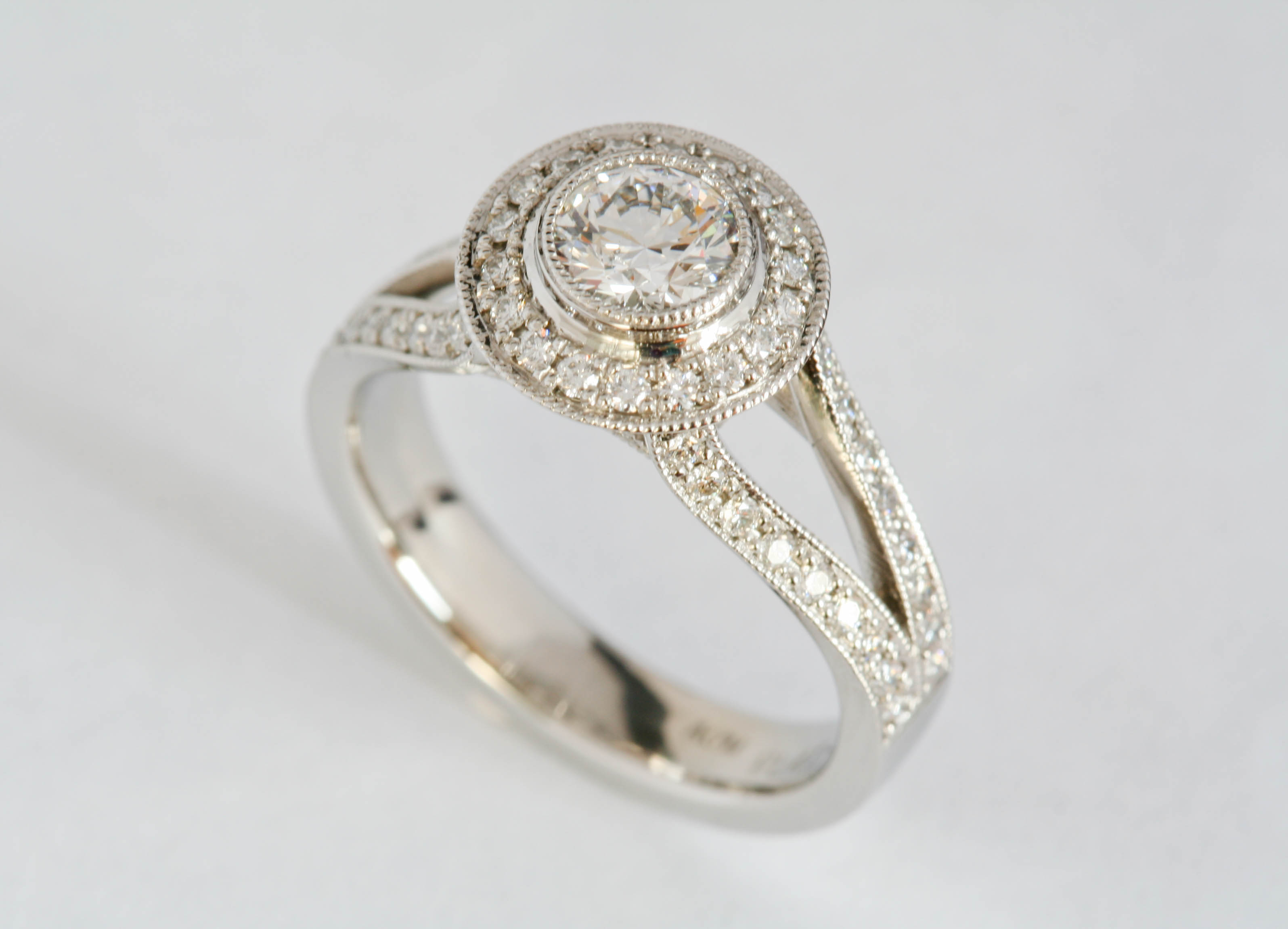 Platinum & diamond Halo ring