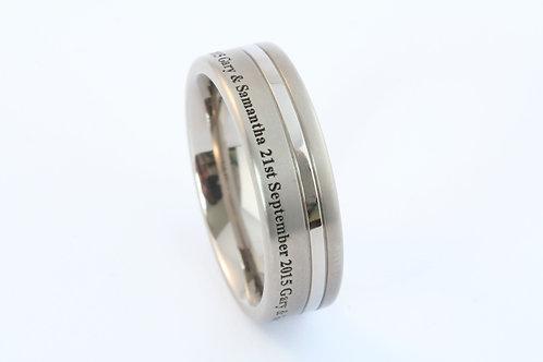 Titanium 360 engraved band