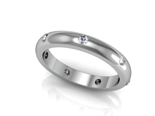 18ct diamond wedding band