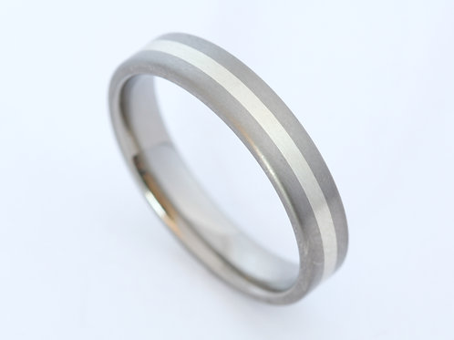 Titanium with 9ct with gold
