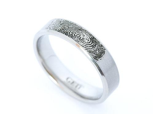 Titanium Fingerprint ring