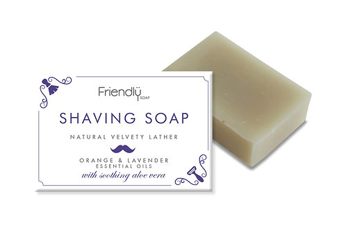 Friendly Shaving Soap Bar - Orange + Lavender