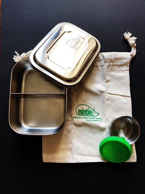Mintie Duo Stainless Steel Lunchbox With Snack Pot