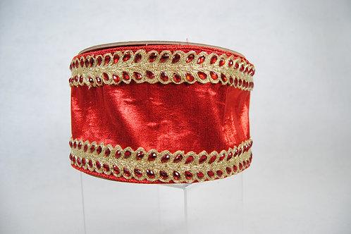 RIBBON TEARDROP BORDERS 4X10 RED