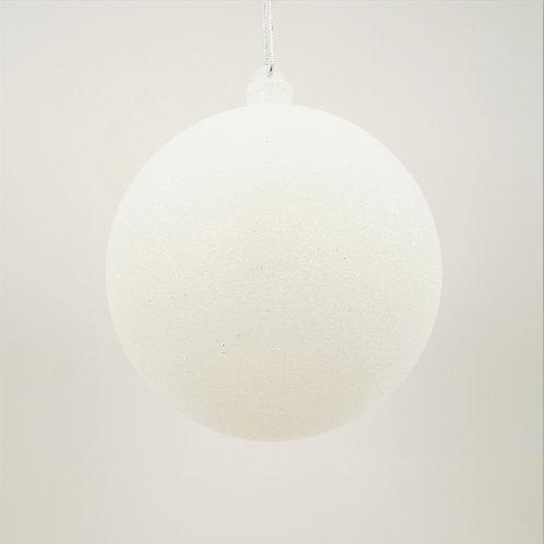 GLITTER WHITE BALL 140MM