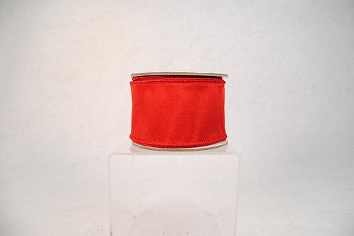 RIBBON TAFFETA 2.5X10YD RED