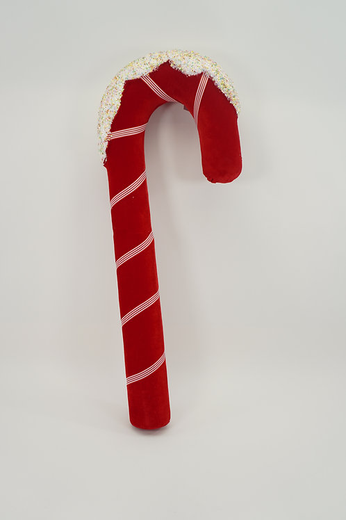 CANDY CANE ICED 32IN RED