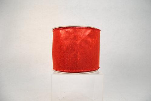 RIBBON SILKY SHEEN 4X10 RED