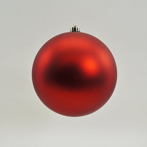 MATTE RED BALL ORNAMENT