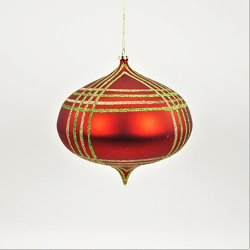 KISMET ORNAMENT 240MM SCOTCH RED, GREEN AND GOLD