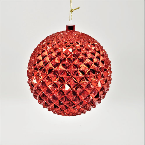 DURIAN BALL RED WITH GLITTER